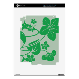 Green Flowers Decal For The iPad 2