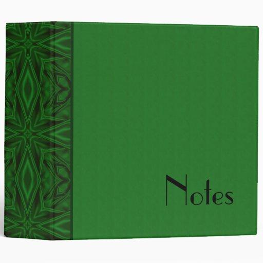 green flowers fractal design 2 inch binder