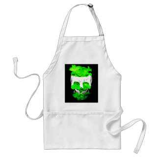 Green Flowers In A Skull Apron