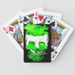 Green Flowers In A Skull Bicycle Playing Cards