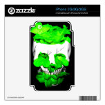 Green Flowers In A Skull iPhone 2G Decals