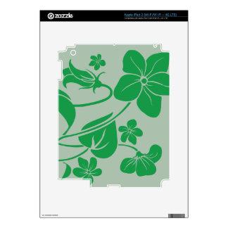 Green Flowers iPad 3 Decal