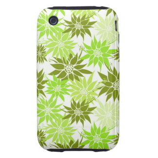 Green Flowers iPhone 3G/3GS Case-Mate Tough iPhone 3 Cover