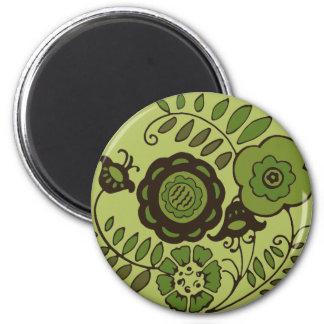 Green Flowers Magnet