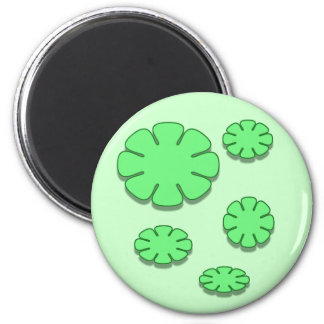 green flowers magnet