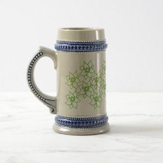Green Flowers Mugs