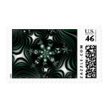 Green Flowers Postage Stamp