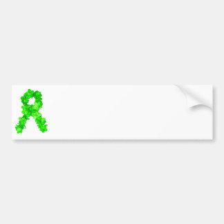 Green Flowers Ribbon Bumper Sticker