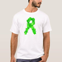 Green Flowers Ribbon T-Shirt