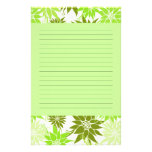 Green Flowers Stationery