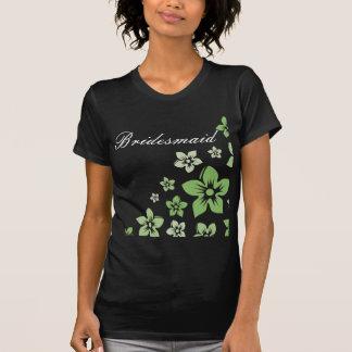 green flowers tee shirt