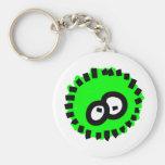 Green Fluffy Germ Key Chain