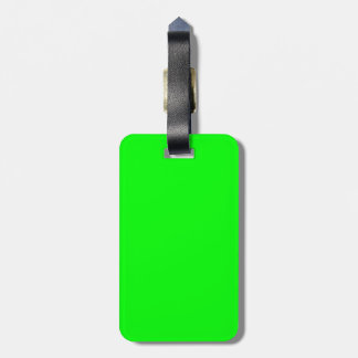 Green Fluo Neon Color Customize This! Travel Bag Tags
