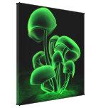 Green Fluorescence Square Canvas Print