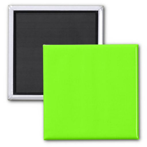 green fluorescent 2 inch square magnet