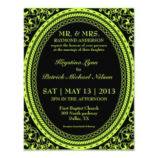 Green Fluorescent / Neon Wedding Invitations
