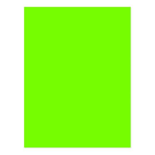 green fluorescent postcard