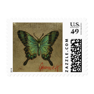 Green Fly Cairns Birdwing Postage Stamp