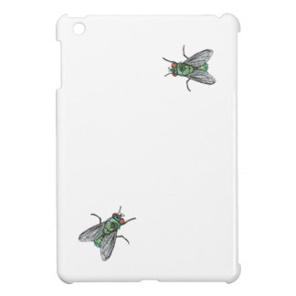 green fly - imitation of embroidery iPad mini cover