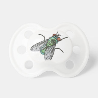 green fly - imitation of embroidery pacifier