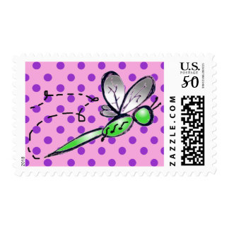 Green Fly Postage Stamp