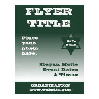 Green Flyer Template
