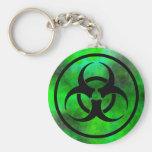 Green Fog Biohazard Symbol Keychain Keychain