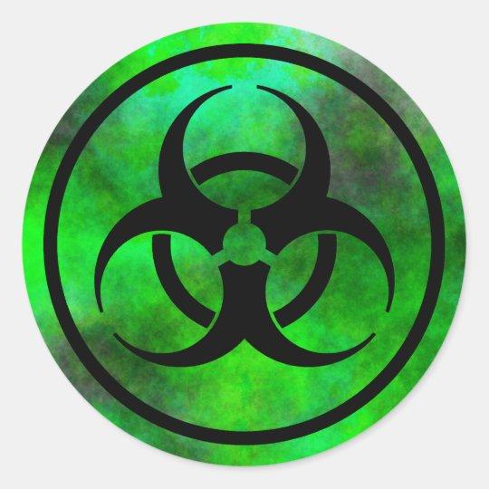 Green Fog Biohazard Symbol Sticker | Zazzle.com