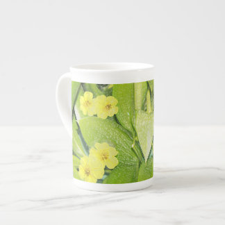 Green foliage and flowers specialty mug