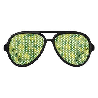 Green foliage aviator sunglasses