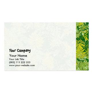 Green foliage business card