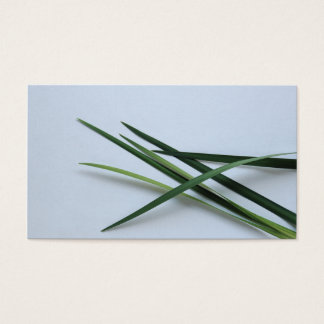 green foliage business card