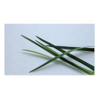 green foliage business card templates