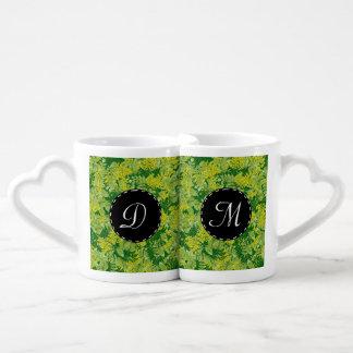 Green foliage couples coffee mug