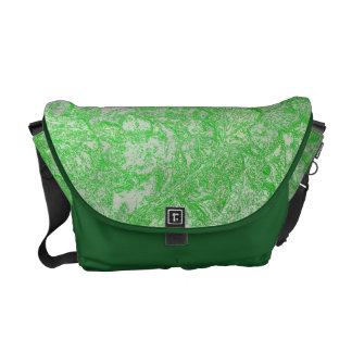 Green Foliage Courier Bag