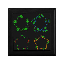 green foliage jewelry box