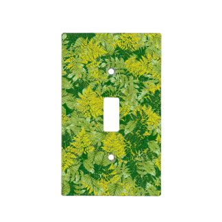 Green foliage light switch cover