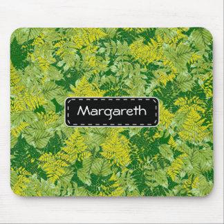 Green foliage mouse pad