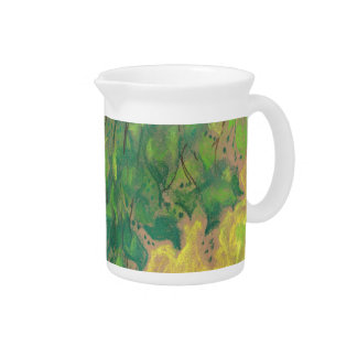 Green Foliage, pastel drawing, life sketch, nature Pitcher