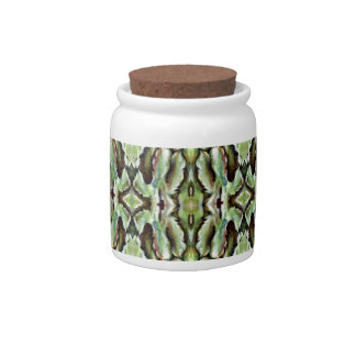 Green Foliage Patterned Candy Dishes