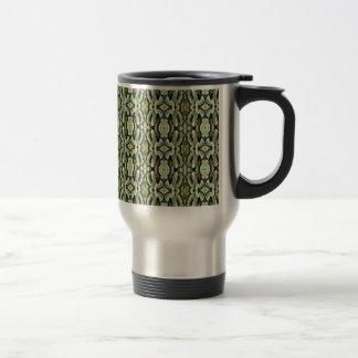 Green Foliage Patterned Mug
