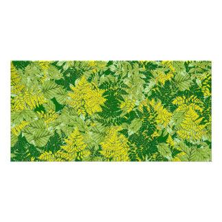 Green foliage photo card