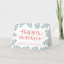 Green Foliage Red Typography | Holiday Greetings