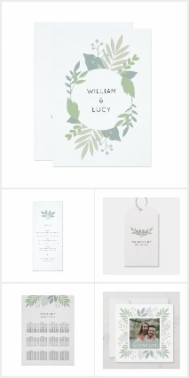 Green foliage wedding