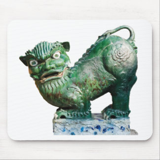 Green Foo Dog Mouse Pad