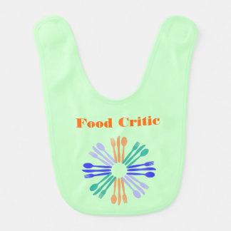 Green Food Critic Baby Bib