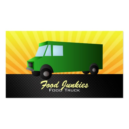 Green food truck business cards zazzle for Food truck design app