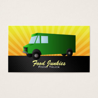 Green Food Truck Business Cards