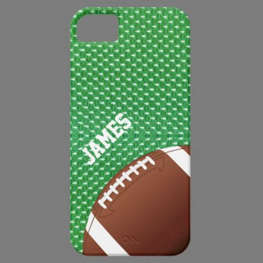 Green Football Custom iPhone 5 Case