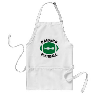Green Football Custom Team Name Tailgating Apron